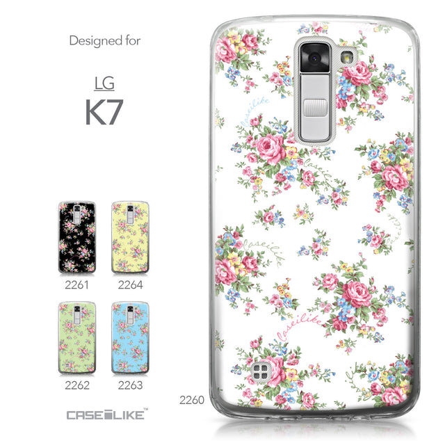 LG K7 case Floral Rose Classic 2260 Collection | CASEiLIKE.com