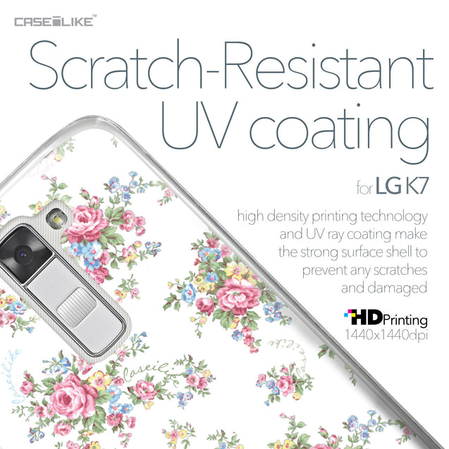 LG K7 case Floral Rose Classic 2260 with UV-Coating Scratch-Resistant Case | CASEiLIKE.com