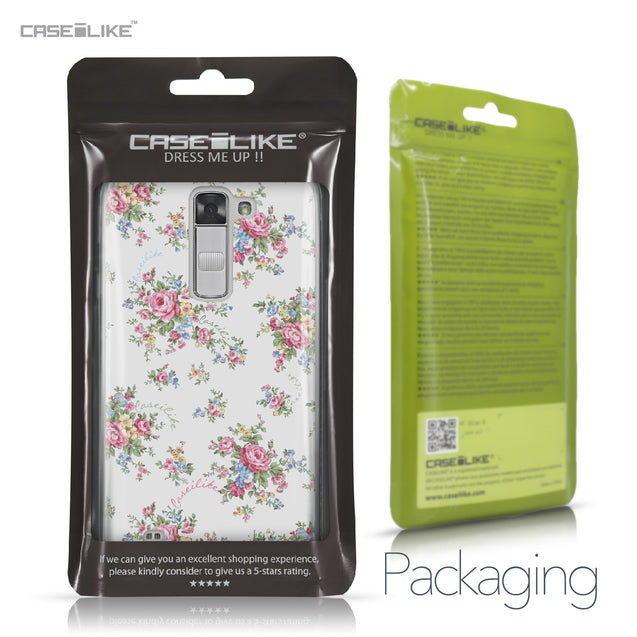 LG K7 case Floral Rose Classic 2260 Retail Packaging | CASEiLIKE.com