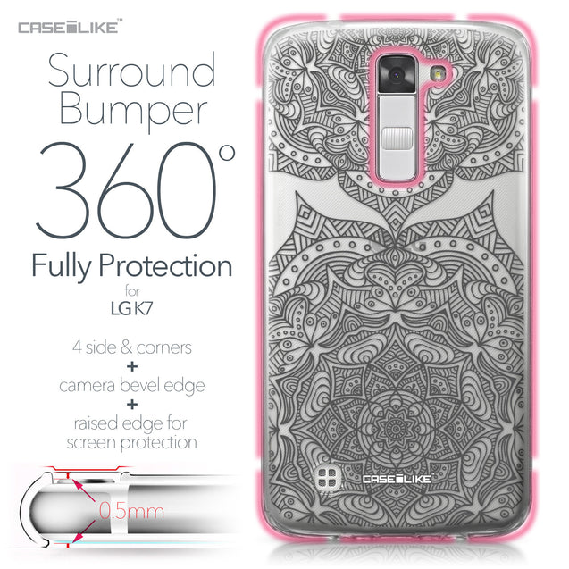 LG K7 case Mandala Art 2304 Bumper Case Protection | CASEiLIKE.com