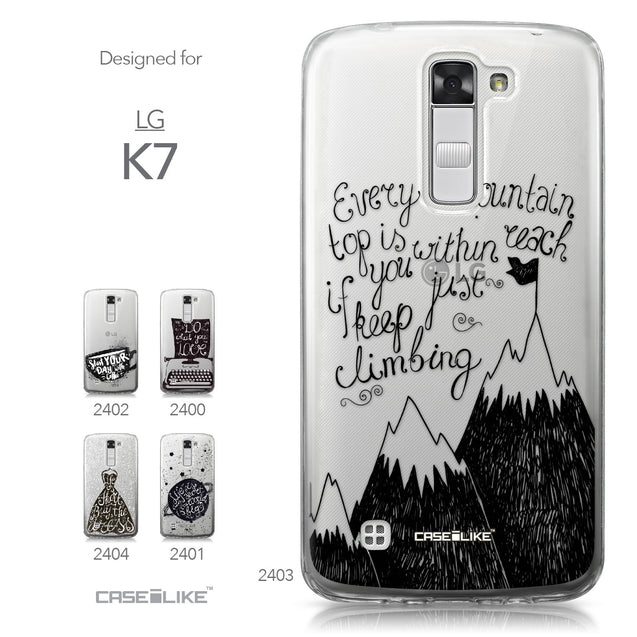 LG K7 case Quote 2403 Collection | CASEiLIKE.com