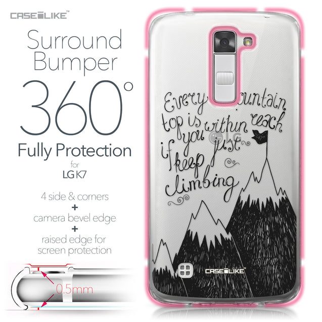 LG K7 case Quote 2403 Bumper Case Protection | CASEiLIKE.com