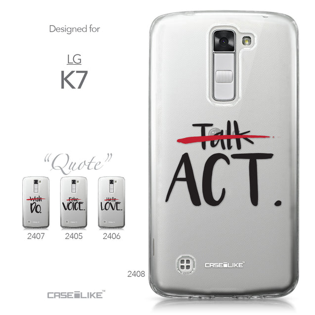LG K7 case Quote 2408 Collection | CASEiLIKE.com