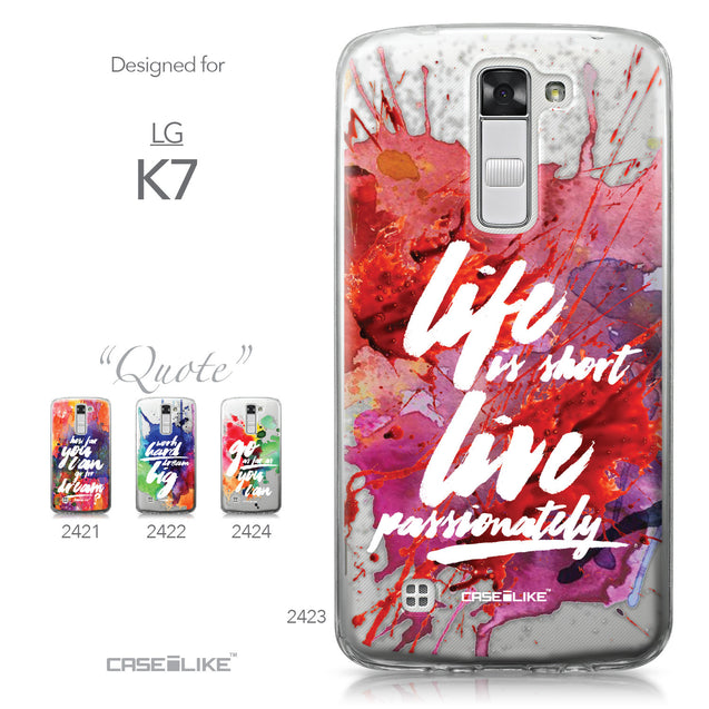 LG K7 case Quote 2423 Collection | CASEiLIKE.com