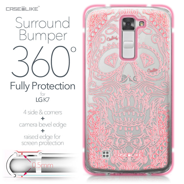 LG K7 case Art of Skull 2525 Bumper Case Protection | CASEiLIKE.com