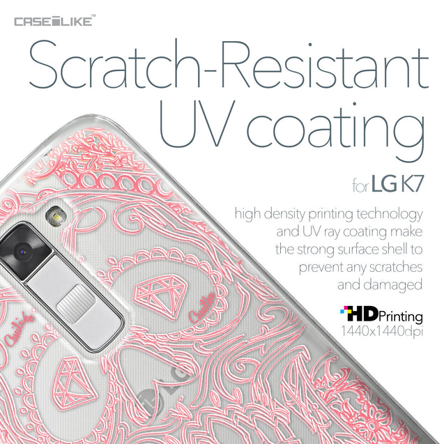 LG K7 case Art of Skull 2525 with UV-Coating Scratch-Resistant Case | CASEiLIKE.com