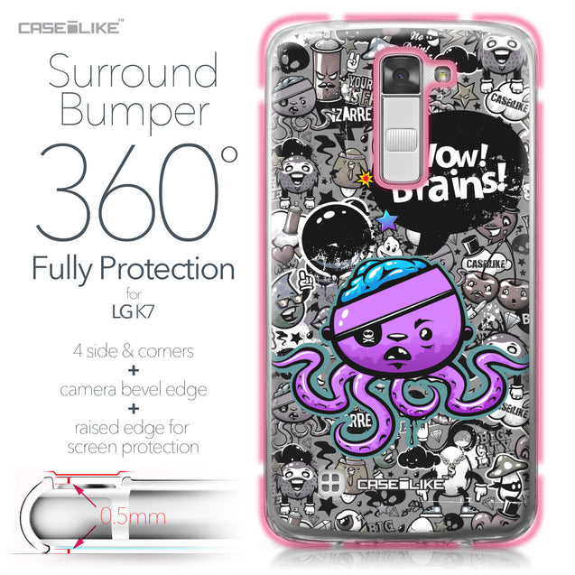 LG K7 case Graffiti 2707 Bumper Case Protection | CASEiLIKE.com