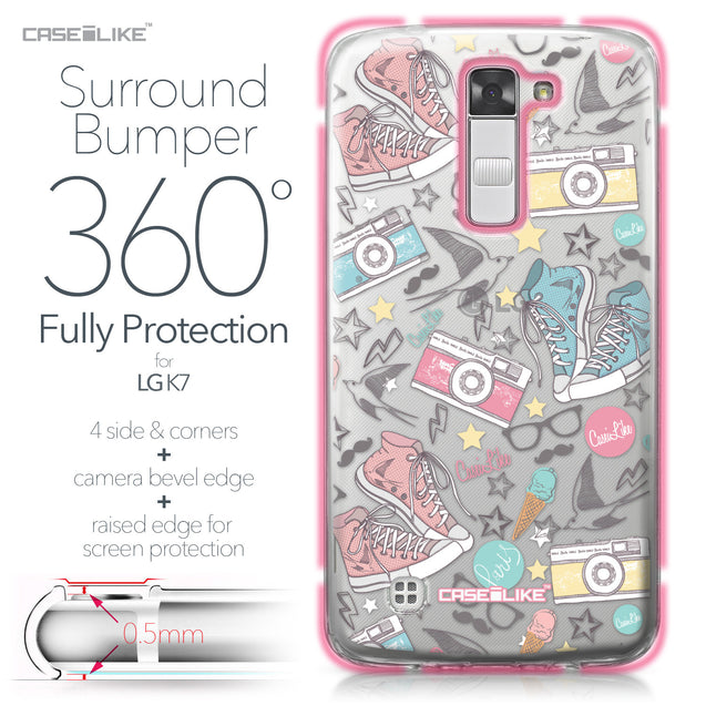 LG K7 case Paris Holiday 3906 Bumper Case Protection | CASEiLIKE.com