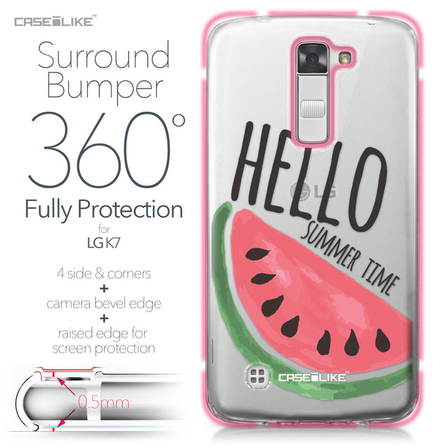 LG K7 case Water Melon 4821 Bumper Case Protection | CASEiLIKE.com