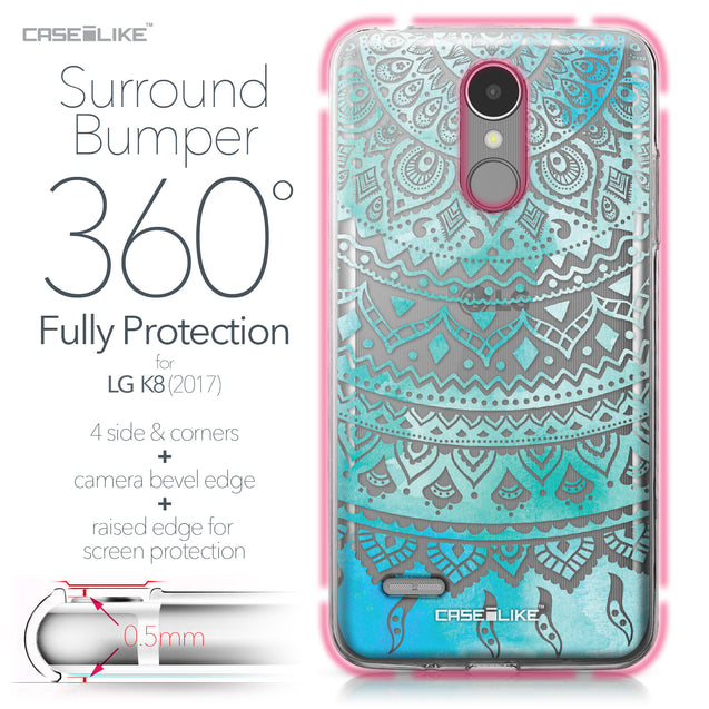 LG K8 2017 case Indian Line Art 2066 Bumper Case Protection | CASEiLIKE.com