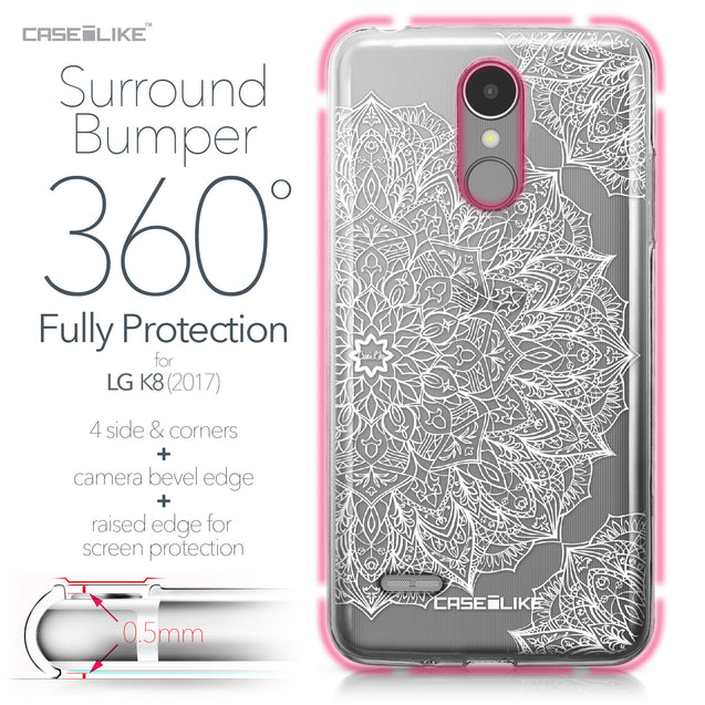 LG K8 2017 case Mandala Art 2091 Bumper Case Protection | CASEiLIKE.com