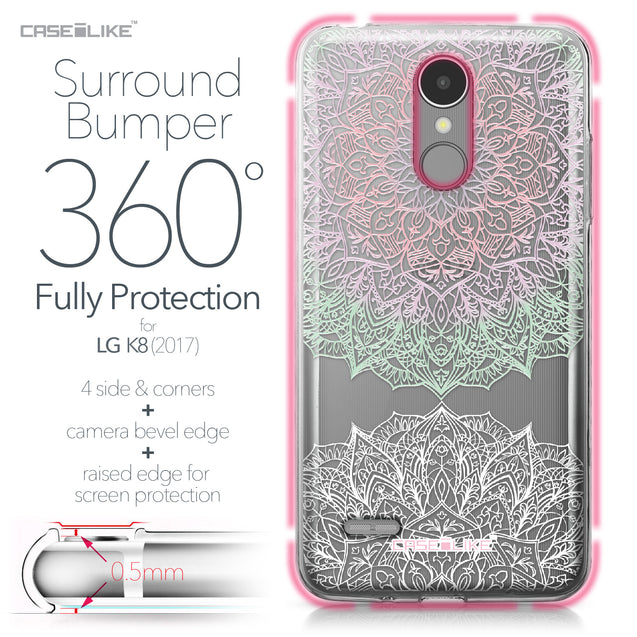 LG K8 2017 case Mandala Art 2092 Bumper Case Protection | CASEiLIKE.com