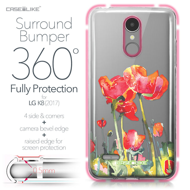 LG K8 2017 case Watercolor Floral 2230 Bumper Case Protection | CASEiLIKE.com