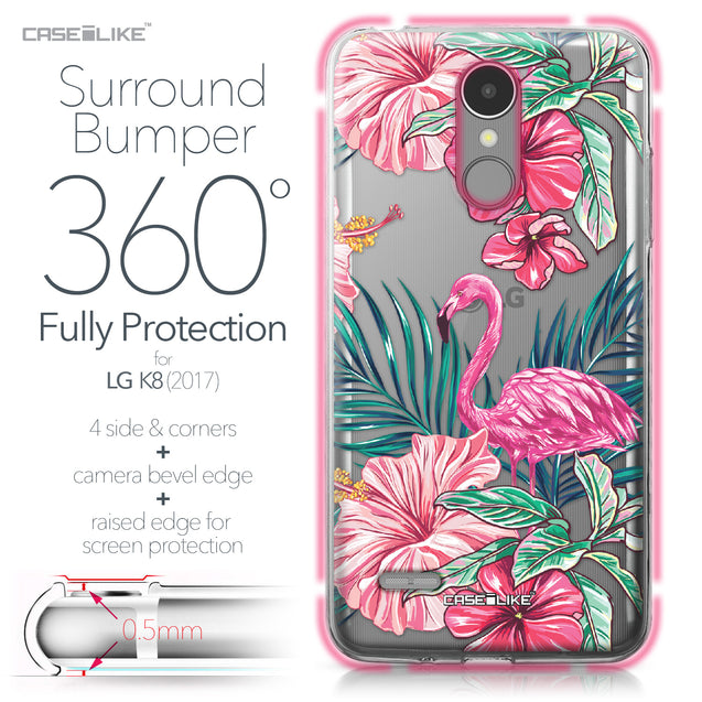 LG K8 2017 case Tropical Flamingo 2239 Bumper Case Protection | CASEiLIKE.com