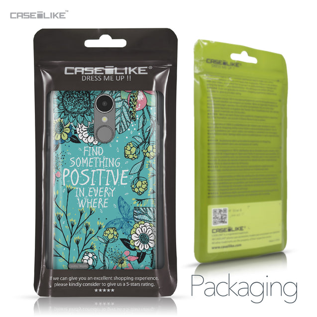 LG K8 2017 case Blooming Flowers Turquoise 2249 Retail Packaging | CASEiLIKE.com