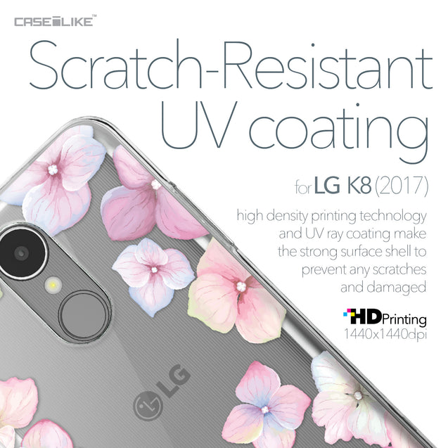 LG K8 2017 case Hydrangea 2257 with UV-Coating Scratch-Resistant Case | CASEiLIKE.com