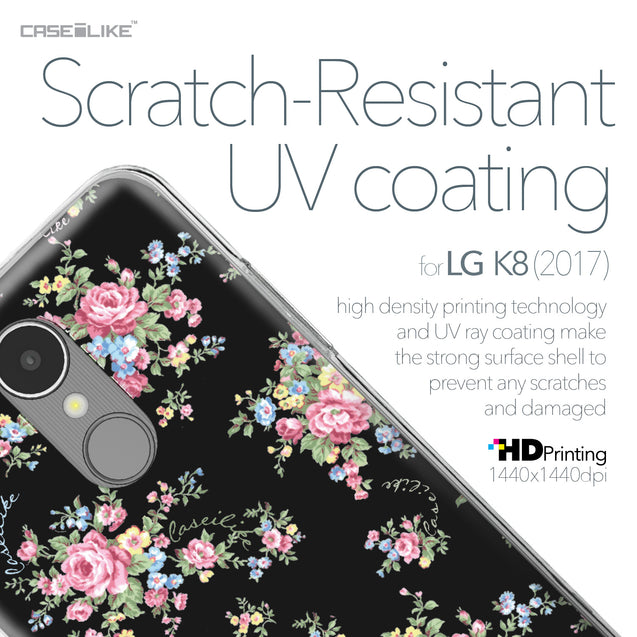 LG K8 2017 case Floral Rose Classic 2261 with UV-Coating Scratch-Resistant Case | CASEiLIKE.com