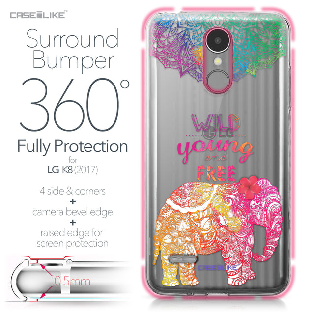 LG K8 2017 case Mandala Art 2302 Bumper Case Protection | CASEiLIKE.com