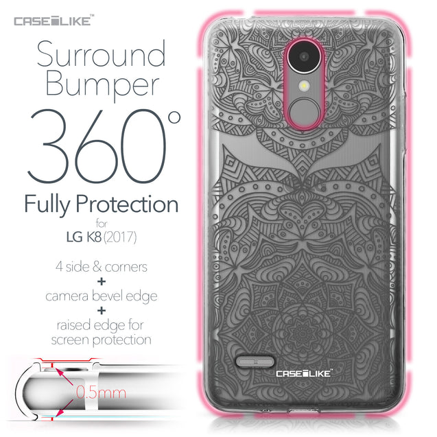 LG K8 2017 case Mandala Art 2304 Bumper Case Protection | CASEiLIKE.com
