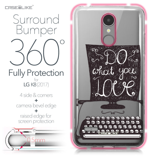 LG K8 2017 case Quote 2400 Bumper Case Protection | CASEiLIKE.com