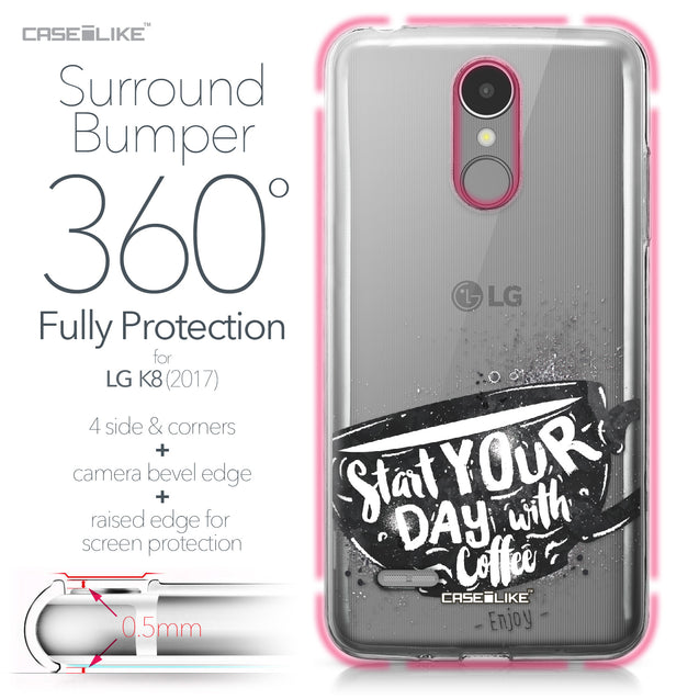 LG K8 2017 case Quote 2402 Bumper Case Protection | CASEiLIKE.com