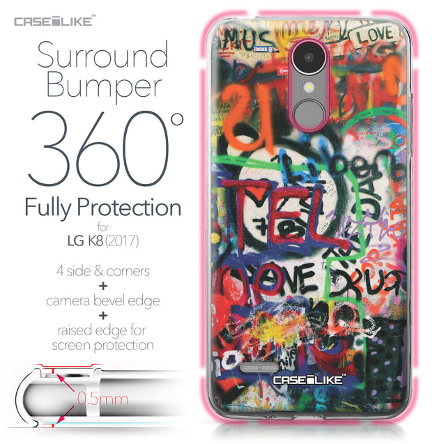 LG K8 2017 case Graffiti 2721 Bumper Case Protection | CASEiLIKE.com