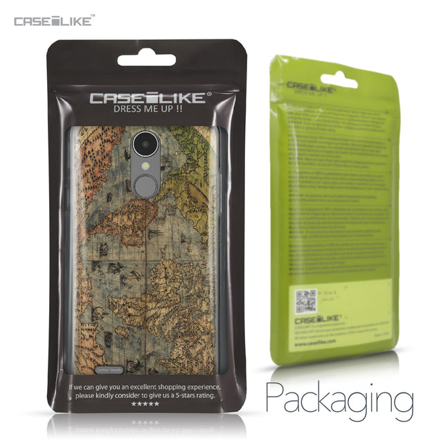 LG K8 2017 case World Map Vintage 4608 Retail Packaging | CASEiLIKE.com