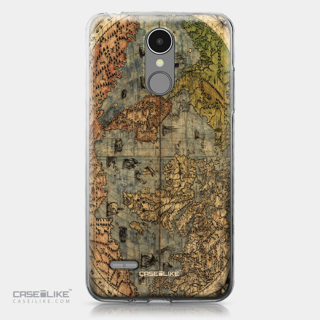 LG K8 2017 case World Map Vintage 4608 | CASEiLIKE.com