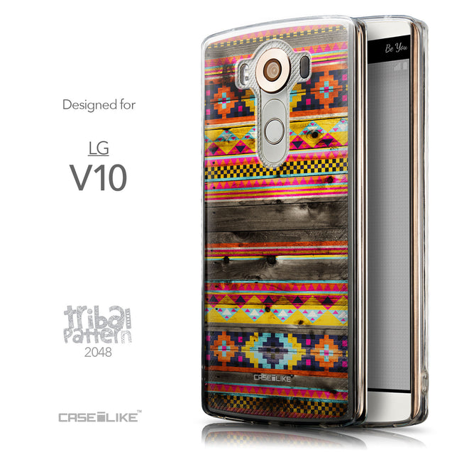 Front & Side View - CASEiLIKE LG V10 back cover Indian Tribal Theme Pattern 2048