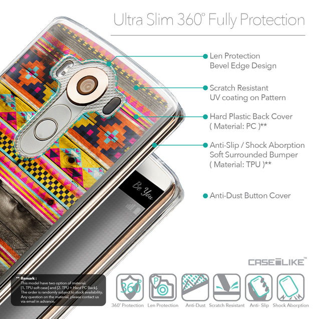 Details in English - CASEiLIKE LG V10 back cover Indian Tribal Theme Pattern 2048
