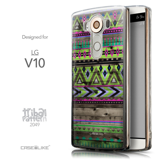 Front & Side View - CASEiLIKE LG V10 back cover Indian Tribal Theme Pattern 2049