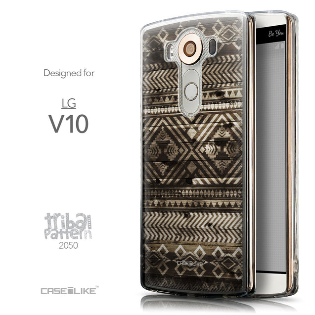Front & Side View - CASEiLIKE LG V10 back cover Indian Tribal Theme Pattern 2050