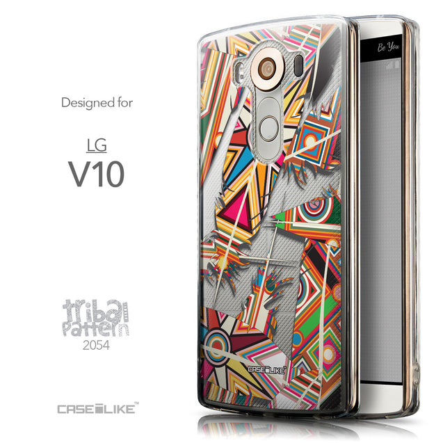 Front & Side View - CASEiLIKE LG V10 back cover Indian Tribal Theme Pattern 2054