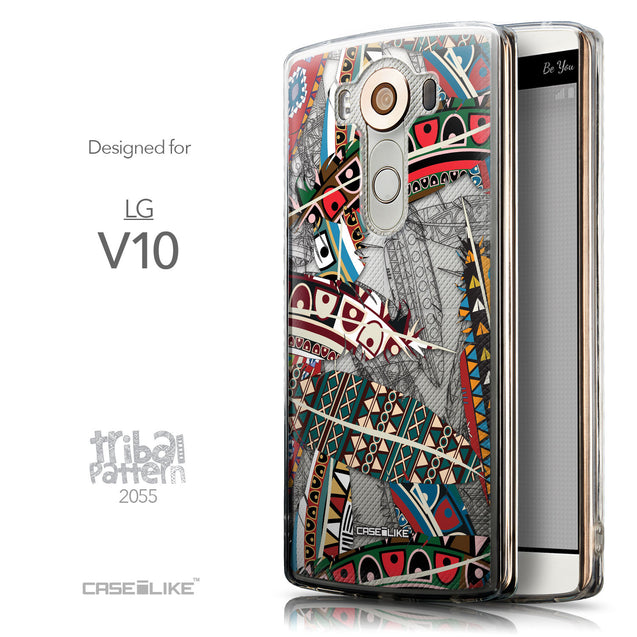 Front & Side View - CASEiLIKE LG V10 back cover Indian Tribal Theme Pattern 2055