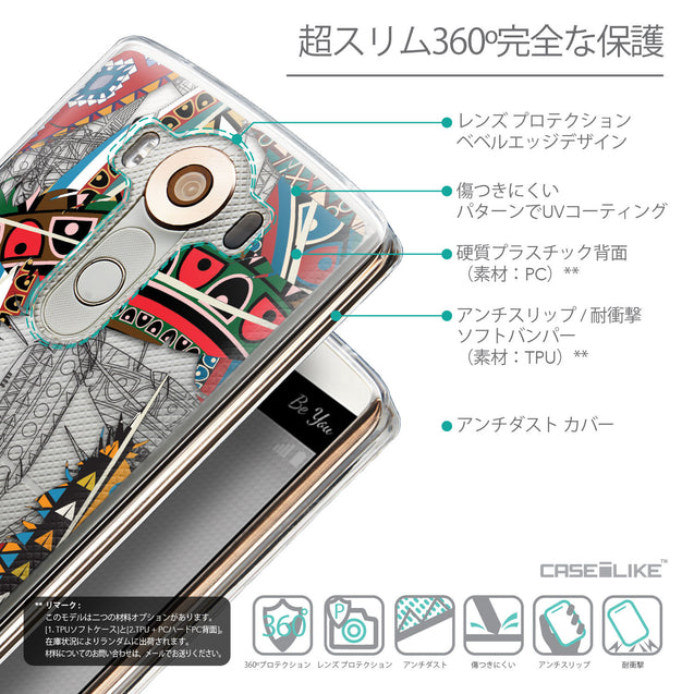 Details in Japanese - CASEiLIKE LG V10 back cover Indian Tribal Theme Pattern 2055