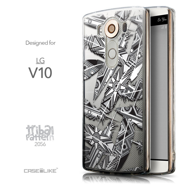 Front & Side View - CASEiLIKE LG V10 back cover Indian Tribal Theme Pattern 2056