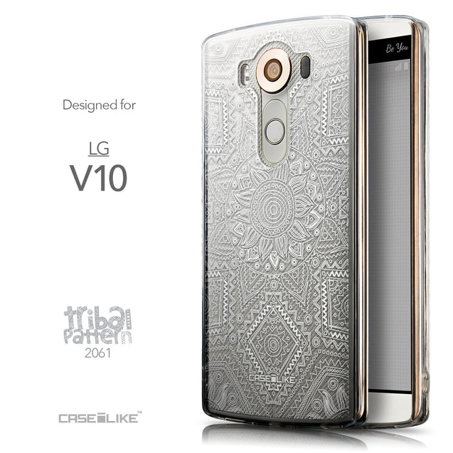 Front & Side View - CASEiLIKE LG V10 back cover Indian Line Art 2061