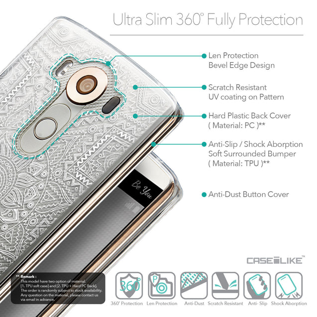 Details in English - CASEiLIKE LG V10 back cover Indian Line Art 2061