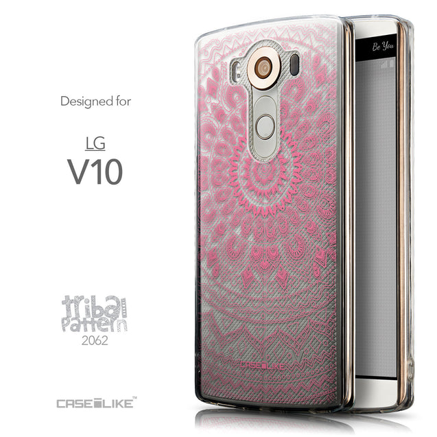 Front & Side View - CASEiLIKE LG V10 back cover Indian Line Art 2062