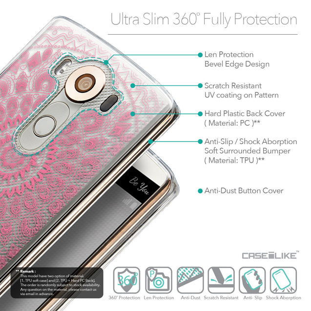 Details in English - CASEiLIKE LG V10 back cover Indian Line Art 2062