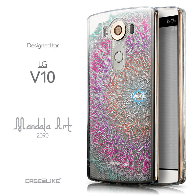 Front & Side View - CASEiLIKE LG V10 back cover Mandala Art 2090