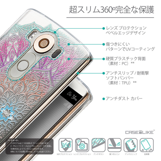 Details in Japanese - CASEiLIKE LG V10 back cover Mandala Art 2090