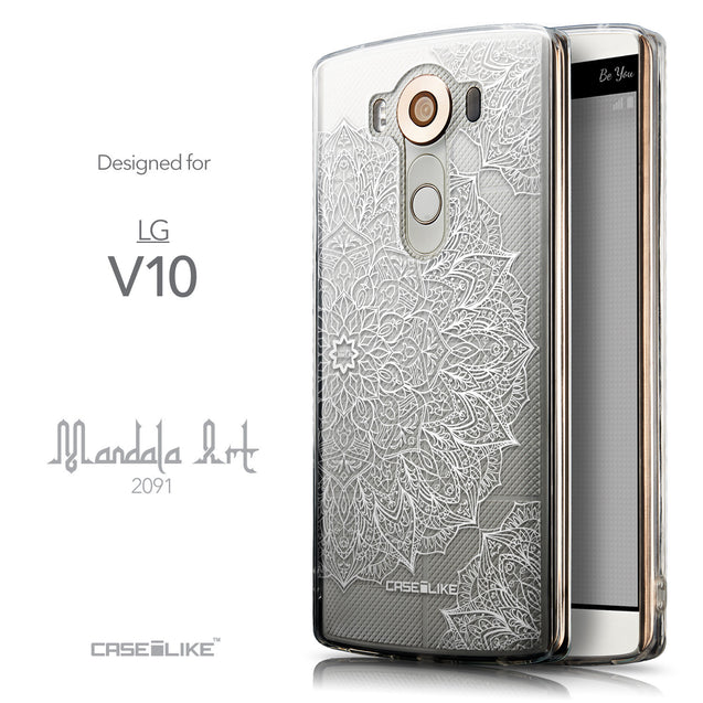 Front & Side View - CASEiLIKE LG V10 back cover Mandala Art 2091
