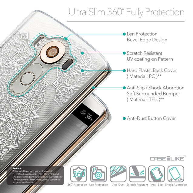 Details in English - CASEiLIKE LG V10 back cover Mandala Art 2091