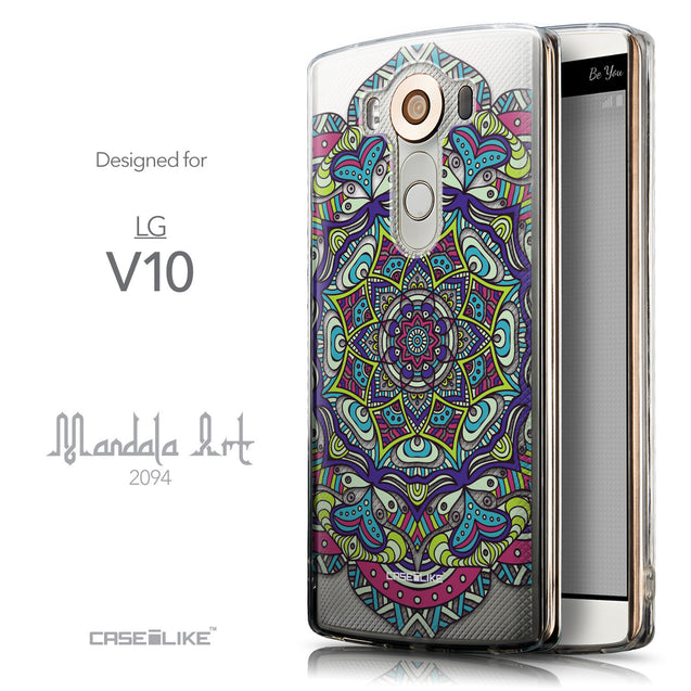 Front & Side View - CASEiLIKE LG V10 back cover Mandala Art 2094