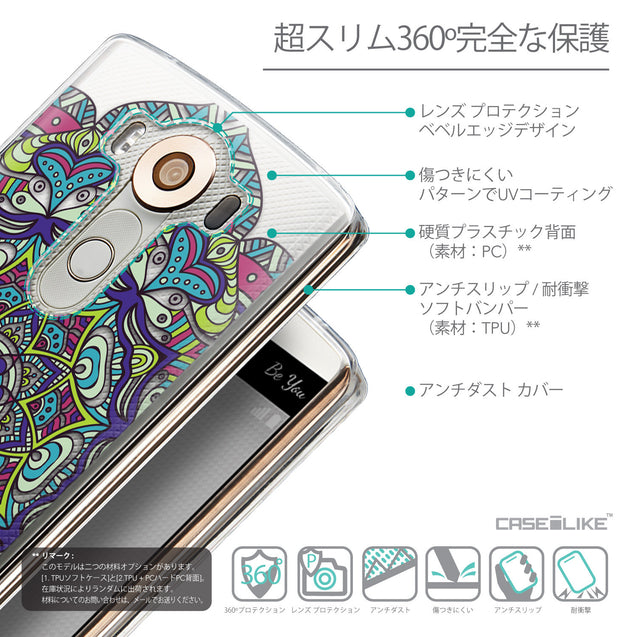 Details in Japanese - CASEiLIKE LG V10 back cover Mandala Art 2094