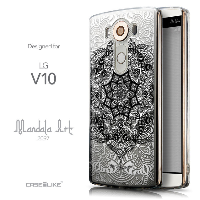 Front & Side View - CASEiLIKE LG V10 back cover Mandala Art 2097