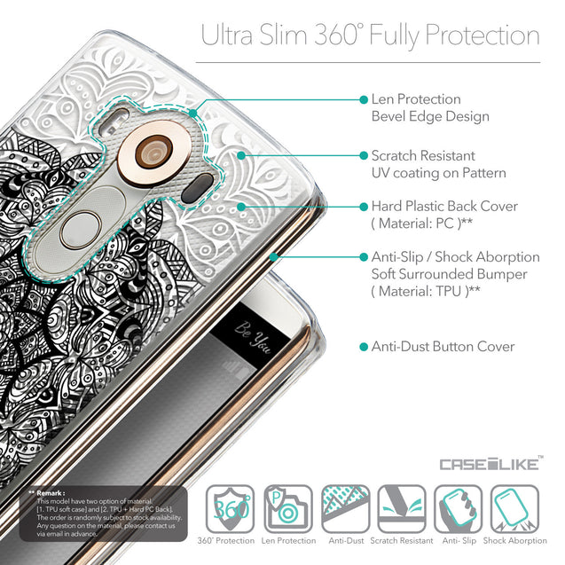 Details in English - CASEiLIKE LG V10 back cover Mandala Art 2097