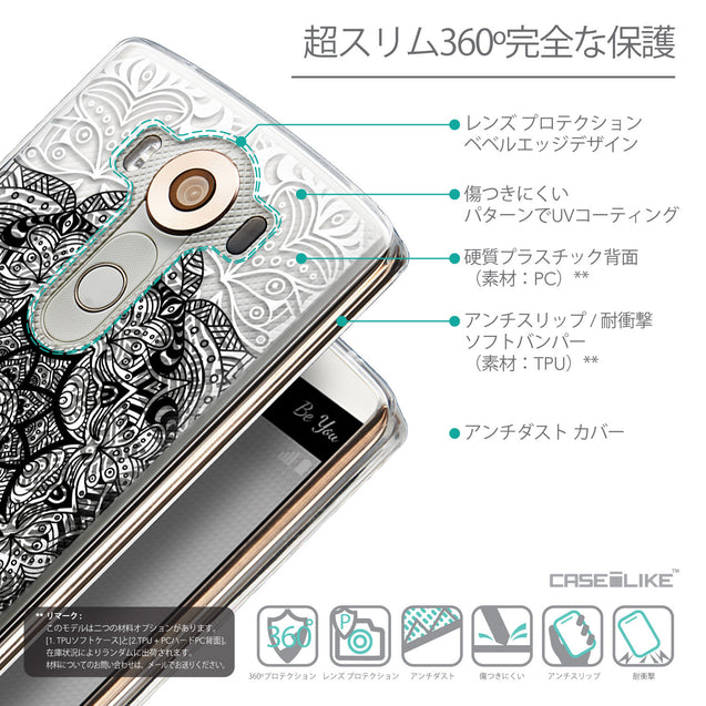 Details in Japanese - CASEiLIKE LG V10 back cover Mandala Art 2097