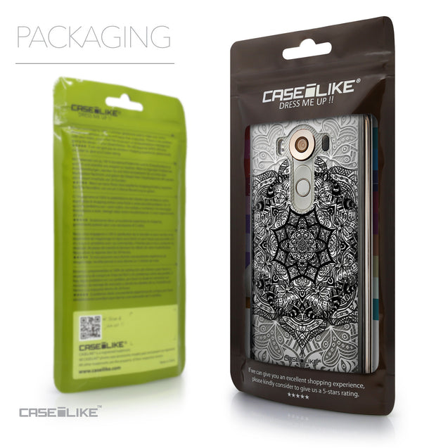 Packaging - CASEiLIKE LG V10 back cover Mandala Art 2097